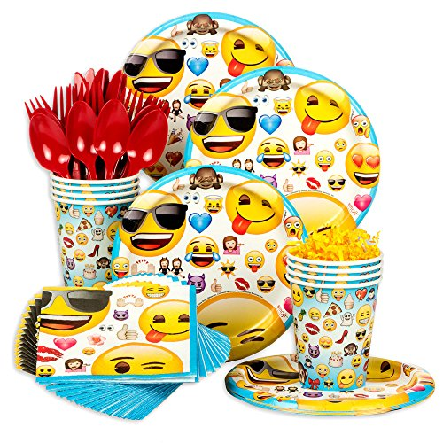 Purchase Emoji Standard Birthday Party Tableware Kit (Serves 8)