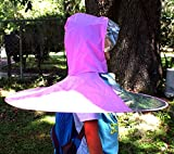 Kids Hands Free Foldable Wearable Raincoat/Hat Umbrella for Raining Fun/School Bus to Home (Medium, Pink)
