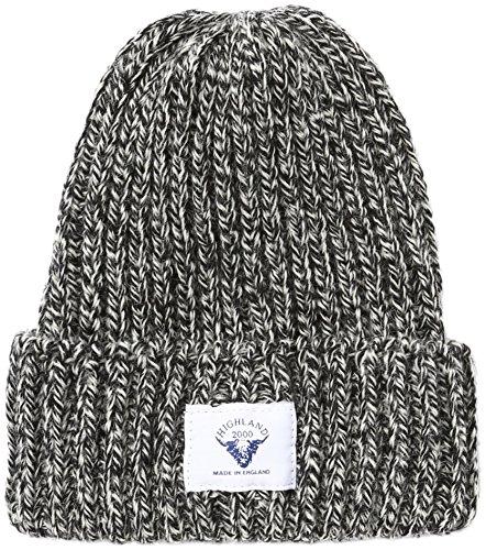 (ハイランド2000)Highland2000 ニットキャップ British Wool 001 Bobcap With Outside Label HL-14 Black/White Mix Black/White Mix F