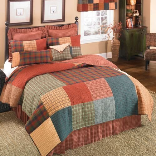donna-sharp-campfire-square-patchwork-100-percent-cotton-full-queen-quilt-by-donna-sharp-inc
