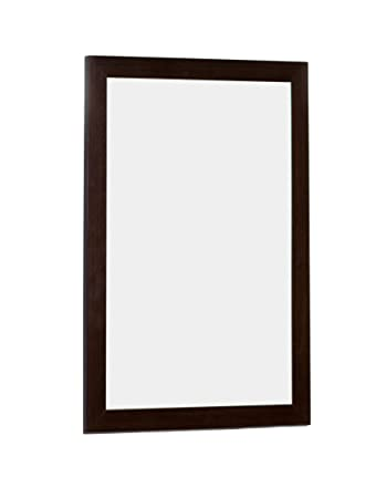 American Imaginations Rectangle Shape Modern Wood Mirror, Comes with a Lacquer-Stain Finish in Wenge Color