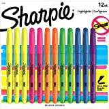 Sharpie 27145 Accent Pocket Style Highlighter, Assorted Colors, 12-Pack