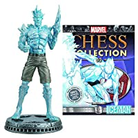 Marvel Iceman White Pawn Chess Piece with Collector Magazine