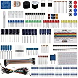 Keywish Electronic Component Base Fun Kit Bundle with Breadboard Cable Resistor,Capacitor,LED,Potentiometer for Arduino UNO,MEGA2560, Raspberry Pi