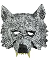 PhoebeTan Halloween Gray Wolf's Head Mask
