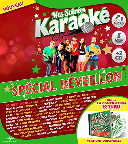 coffret-karaoke-exclu-auchan-5-dvd-micro-2-cd-special-reveillon