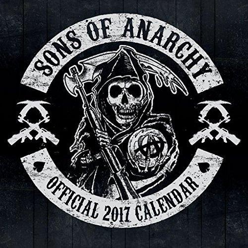 Confezione - 2 Articoli - Sons of Anarchy 2017 Ufficiale Calendario Parete - Dimensioni Da Chiuso: 35 x 35 cm (30.5x30.5cm) e un Set di 4 Cuscinetti Adesivi Riposizionabili