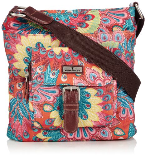 Tom Tailor Acc Womens RINA FLOWER Umhängetasche Shoulder Bag multi-coloured Mehrfarbig (multi 99) Size: 22x21x12 cm (B x H x T)