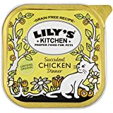 Lily's Kitchen Organic Chicken Dinner for Cats 100 g (Pack of 16)