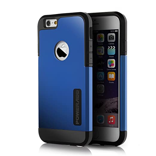 "iPhone 6 Case, Poweradd™ [Innovative Hybrid Series] Sturdy Dual Layer (PC+TPU) Protective Case for iPhone 6 with Impact Protection and Scratch Resistant Perfect Fit for your iPhone 6 4.7"" - Retail Packaging (Blue)"
