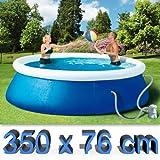 WEHNCKE Quick-Up-Pool-Set inklusive Filterpumpe (CA. Ø 350X...