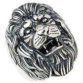 M's collection エムズコレクション ライオン シルバー リング メンズ 15~21号 獅子 指輪 X0130