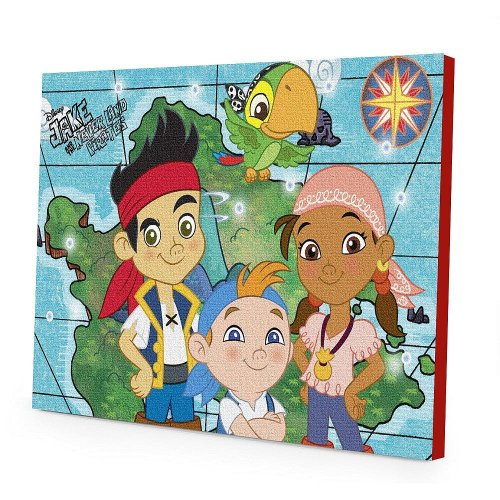 Disney Jake And The Neverland Pirates Led Canvas Wall Art