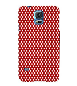 Red Polka Dot Chand 3D Hard Polycarbonate Designer Back Case Cover for Samsung Galaxy S5 Mini :: Samsung Galaxy S5 Mini G800F