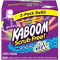 Arm & Hammer 57037-35261 Kaboom Scrub Free! Toilet Cleaning System with OxiClean 2- pack refill 2.6 lbs (Pack of 6)
