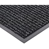 "NoTrax 109 Brush Step Entrance Mat, for Lobbies and Indoor Entranceways, 2' Width x 3' Length x 3/8"" Thickness, Charcoal"