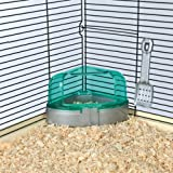 Corner toilet with hood, hamster, 14 × 8 × 11/11 cm - Various colours
