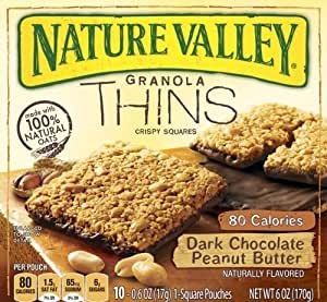 ... Crispy Squares, Dark Chocolate Peanut Butter, 6 Ounce by Nature Valley