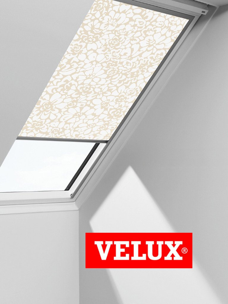VELUX Blackout Blind Easy Fit Quality Roof Window Roller in Beige/White 3111       Customer reviews and more information
