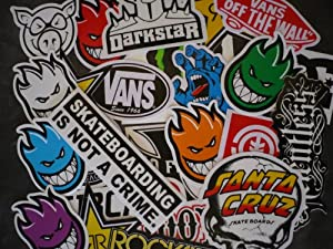 10 assorted vinyl skateboard stickers