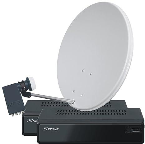 Sky Vision  Strong Primasat II Satelliten-Komplettanlage Quad-LNB-Receiver (Durschmesser: 80 cm)