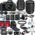 Nikon D5200 DSLR Camera Bundle with Lens, Filter & Accessories (16 Items)