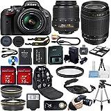 Nikon D5200 DSLR Camera Bundle with Lens, Filter & Accessories (16 Items)