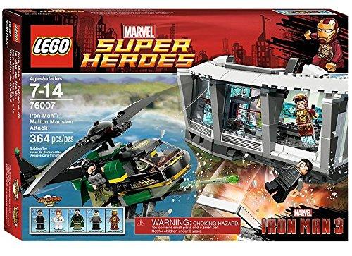 Lego Marvel Super Heroes 76007 – Iron Man Tumult in der Malibu-Villa günstig als Geschenk kaufen