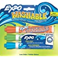 Washable Dry Erase Markers, Bullet Tip, Assorted Colors Set of 3