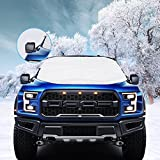 VIVVAUTO Magnetic SUV Windshield Cover for Ice and Snow, Hail / 3 Magnets Most Secure Fitting and Easiest Installation / Waterproof, Soft Scratch-Free, Padded Liner - 2018 Design Protects Wiper Blades