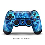 Skins for PS4 Controller - Stickers for Playstation 4 Games - Decals Cover for PS4 Slim Sony Play Station Four Controllers PS4 Pro Accessories PS4 Remote Wireless Dualshock 4 Skin - Blue Daemon (Color: Blue Daemon)
