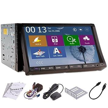 Všªdeo Win 8 š²ltimas Motors Interfaz Doble 2 Din de 7 pulgadas HD Autoradio GPS NAV SAT Radio TV Auto BT RDS iPod en voiture stšŠršŠo tactile USB Lecteur DVD Pantalla cable directe por para Autoradio iP