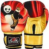 Kung Fu Panda Kid Boxing Glove Junior Mitts 4oz 6oz Punch Bag Children MMA Youth (Kung Fu Panda, 4 Oz) (Color: Kung Fu Panda, Tamaño: 4 Oz)