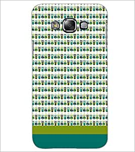 PrintDhaba Owl pattern D-1863 Back Case Cover for SAMSUNG GALAXY E7 (Multi-Coloured)