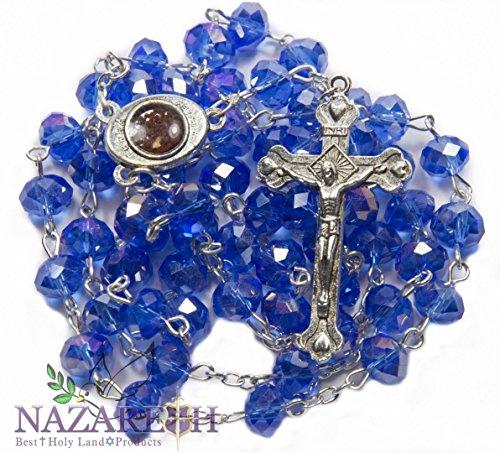 crucifijo-y-cristal-azul-fino-granos-rosario-catolico-collar-medalla-de-suelo-santo