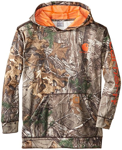 Carhartt Big Boys' Cb Realtree Fleece Hoodie, Real Tree Xtra Brown, Small/8/10 front-938663