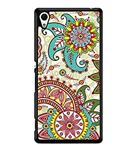 Multi Colour Pattern 2D Hard Polycarbonate Designer Back Case Cover for Sony Xperia Z4