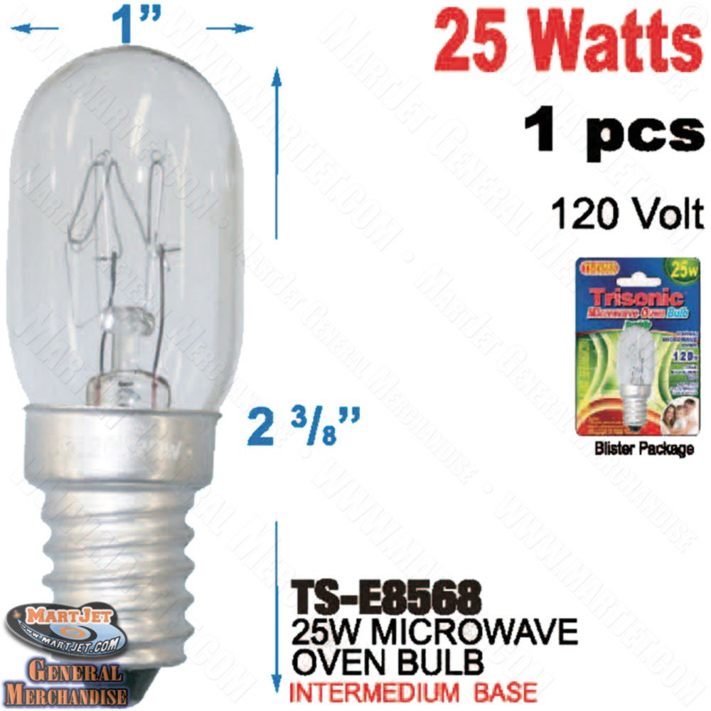 Microwave Oven 120v 25w E14 Eu Screw Base Bulb T7 compatible 25w uv germicidal bulb for 25w ultraviolet sterilizer 2 packed
