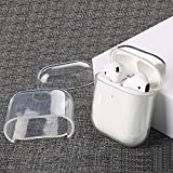 AirPods Case Clear Soft TPU Protective Cover and Skin Glossy Anti-dust Air Pods Earphones Shell Ultra-Thin Flexible Compatible with Apple AirPods Earpods 2 & 1 (Transparent) (Color: Transparent)