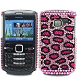 Diamond Leopard Spot - Hard Mobile Phone Case Cover Cover For Nokia C3-00 / Hot Pink