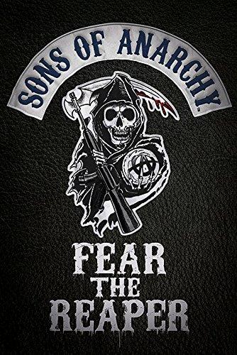 Fear the Sons of Anarchy reaper-Maxi Poster, in legno, colore: multicolore