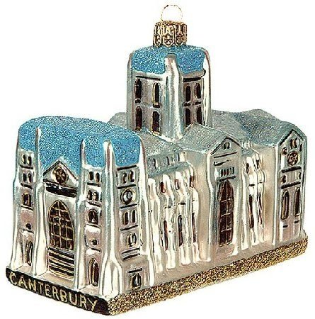 Canterbury Cathedral Polish Glass Christmas Ornament