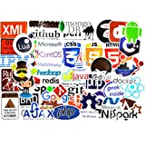 Developer Stickers for Laptop,Programming Stickers of Front-end Dev and Back-end Languages,Stickers for Software Developers,Engineers,Hackers,Programmers,Geeks and Coders (50pcs) (Color: 50pcs, Tamaño: 50pcs)
