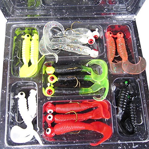 17pcs-fishing-lure-lead-jig-head-hook-grub-worm-soft-baits-shads-silicone-baits
