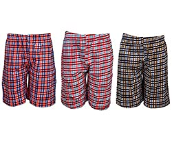 Spictex Boys' Cotton Shorts (Pack Of 3) (SPIC-CT142-PC3-04_Multicolor_6 Years - 7 Years)