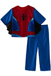 AME Sleepwear Big Boys' Spider-Man Uniform Two-Piece Pajama Set
