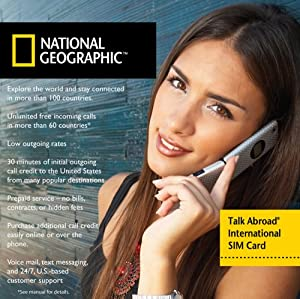 National Geographic Talk Abroad SIM - 1070 International SIM Card