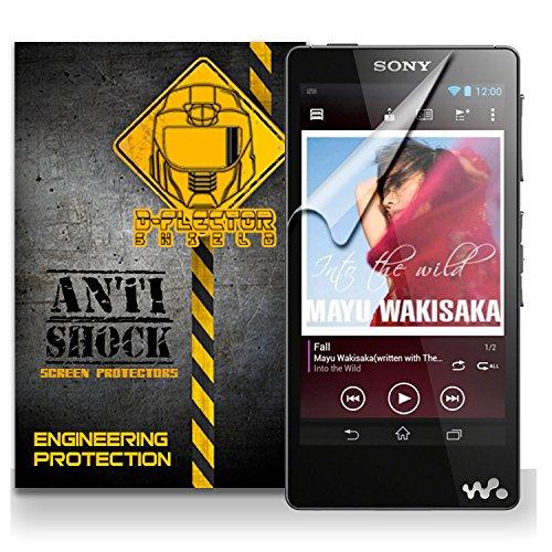 D-Flectorshield Sony Xperia Walkman F886 Mp3 Anti-Shock/Military Grade/ Tpu /Premium Screen Protector / Self Healing / Oleophobic Material / Ez Install / Ultra High Definition / Scratch Proof / Bubble Free Install / Precise Laser Cuts front-380327