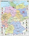 Deutschland politisch mit Wappen - Wa...