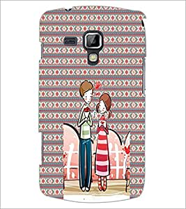 PrintDhaba Couple D-4561 Back Case Cover for SAMSUNG GALAXY S DUOS S7562 (Multi-Coloured)